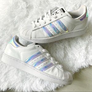 Adidas Superstar Custom Holographic Sneakers 6.5